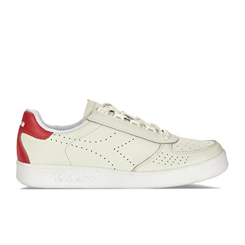 Diadora B.Elite Premium L, Sneakers Basses Homme C5147 - BLANC-ROUGE POIVRE