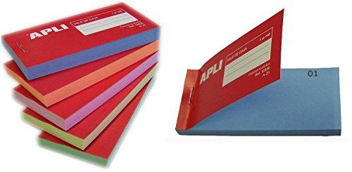 APLI 12936 - Talonario vales de caja 1-100, colores surtidos