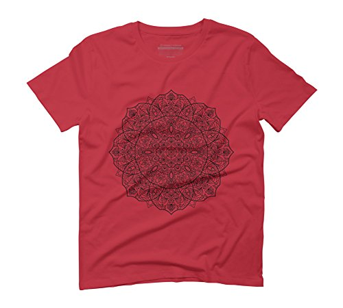 slappa-da-bass-man-dala-black-and-white-mens-3x-large-red-graphic-t-shirt-design-by-humans