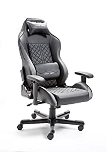 Robas Lund DX Racer11 Gamingstuhl Schreibtischstuhl Bürostuhl Gaming Chair Drifting Serie schwarz/grau 69 x 124-132 x 56 cm 62541NG4