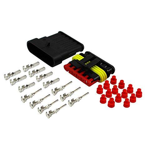 Amp Wire (AK-Parts AMP Superseal Kfz Nfz Stecker Set 6 Polig 1,50-2,50 mm² Rot Wasserdicht)