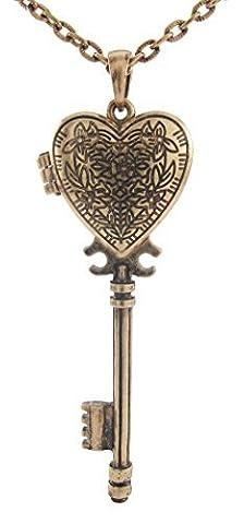 Daisyjewel victorien Bijoux Key to my heart Pendentif Collier Médaillon en forme de cœur