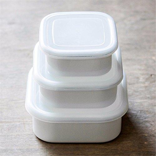 Wiederverwendbare Food Container/Essen Aufbewahrungsboxen, dicken Lack versiegelt, Aufbewahrungsbox, Kochnische Kühlschrank Aufbewahrungsbox Veranstalter Lunch Box Container Container, A, Weiß