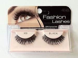 Best Quality** Ardell Fashion Eye Lashes 100% Human Hair** No 103 Black **Best Seller