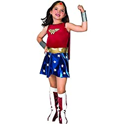 Disfraz de Wonder Woman para niña, talla L (8-10 años)