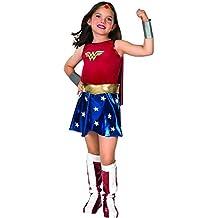 Wonder - Disfraz de mujer maravilla para niña, talla L (8 - 10 años) (VZ-2240)