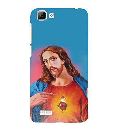 Fuson Designer Back Case Cover for Vivo V1 (Jesus Church Etymology Emmanuel Christ)