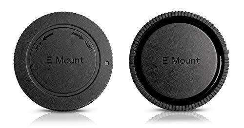 Ares Foto Conjunto: Tapa para la Parte Trasera de la Lente + Tapa para Cuerpo de cámara. para Sony E-Mount. para Sony Alpha a7R II 7R II a7R 7R 7R a7S 7S a7 II 7 7 a6000 a5100 a5000 α3000 NEX