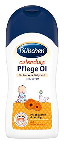 Bübchen Calendula Pflege Öl für trockene und sensible Babyhaut Baby Pflege- und Massageöl, mit BIO-Calendula, Menge: 1 x 200 ml -
