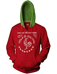 Sriracha Label Pull Over Hoodie Sweatshirt | S