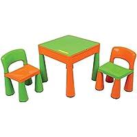 Preisvergleich für Liberty House Kinder Spieltisch 3in1 Maltisch mit Lego Grundplatte 2 Sesseln