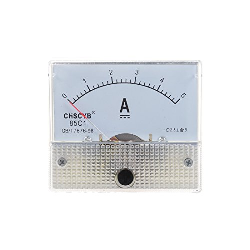 TOOGOO(R)85C1-A Medidor de panel de corriente analogico DC 5A AMP Amperimetro