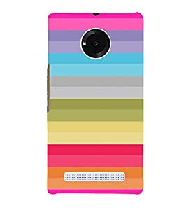 Citydreamz Colorful Stripes\Horizontal Hard Polycarbonate Designer Back Case Cover For Micromax YU Yuphoria 5010