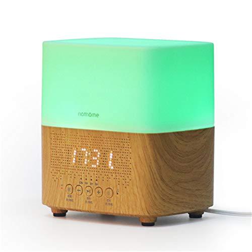 Jiahe 300ml Ultraschall Aroma Diffusoren Luftbefeuchter Zeitanzeige, Bluetooth Lautsprecher, LED Nachtlicht, Wecker für Home Office