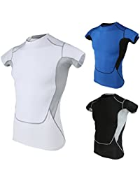 T-shirt à Manches courtes Vêtement Confort Homme Sport Maillot d'entraînement Fitness Jogging Exercice