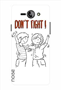 Noise Dont Fight-White Printed Cover for Philips S388