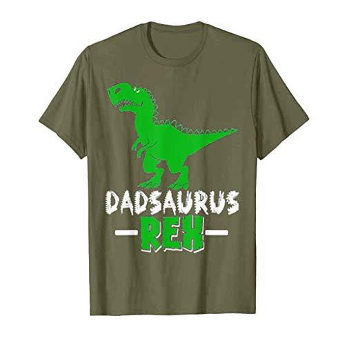 Junioren Waffel (Haughtily Fashion Herren Casual Cartoon Dinosaurier Brief gedruckt Casual T-Shirt Rundhals Kurzarm lose Sweatshirt Bluse)