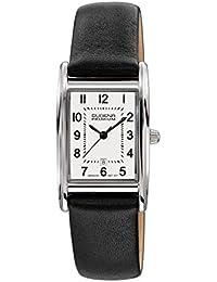 Dugena Damen-Armbanduhr Quadra Artdeco - Traditional Classic Analog Quarz Leder 7000119