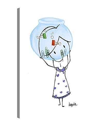 Impression Giclée sur Toile en Grand Format - AQUARIUS – 30x40 cm - Virgola Art - Photo sur Toile de Tendue sur Châssis en bois – Tableau Artistique Contemporain – Image Déco d'Art Murale Prêt à Accrocher/ e12556