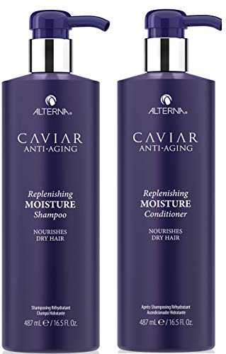 Alterna Caviar Anti-Aging Replenishing Moisture DUO: Shampoo and Conditioner (16.5 oz Each) by Alterna