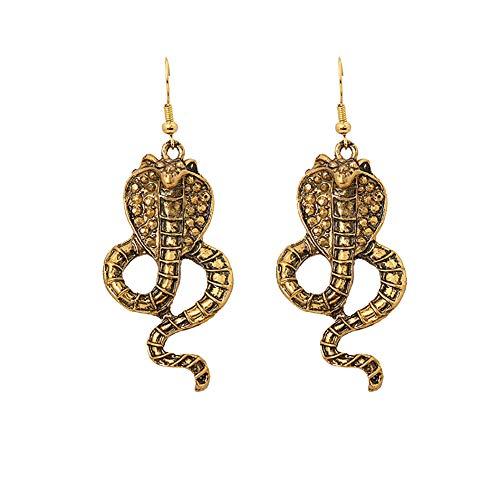 CAOLATOR Halloween Ohrringe Kobra Anhänger Ohrringe Vintage Gold Schlange Schmuck Zubehör Ohrhänger für Mädchen Damen