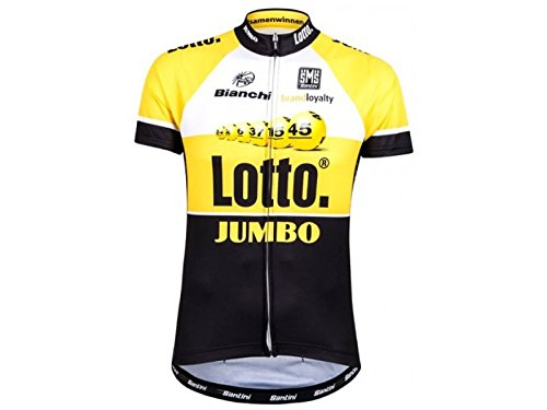 Santini Replica Team Original Lotto Jumbo Super Aero 3/4 Sleeve Jersey xl schwarz (Shirt Riding Sleeve Jersey)