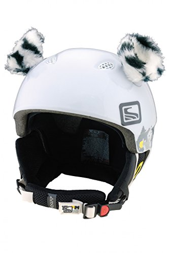 Crazy Ears Helm-Accessoires Biene Teddy Maus Katze. Ski-Ohren geeignet für Skihelm Motorradhelm Fahrradhelm und vieles mehr. Helm Dekoration für Kinder und Erwachsene, CrazyEars:Katzen Ohren 2