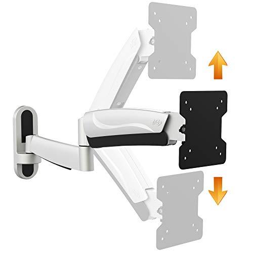 RICOO S2711, Monitor-Halterung, Höhen-Verstellbar, Schwenkbar, Neigbar, Universal (13-33 Zoll (33-84 cm)) Bildschirm-Halterung, Wand-Halter, TFT-, LCD-, LED-Monitore, VESA 75x75 100x100, Silber-Grau