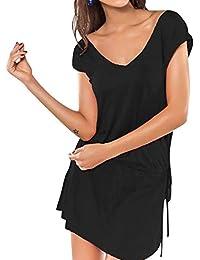 luckyemporia Women Beach Cover Dress Summer Holiday Cover up Kaftan Sarong Swimwear UK