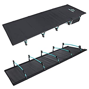 FE Active – Kompaktes klappbett aus vollaluminium, ultraleichtes, bequem zum schlafen, tragbares campingbett für Zelten…
