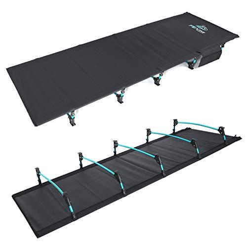 FE Active - Lit Pliant Compact 100% Aluminium conçu comme Un lit de Camping transportable Portable et ultraléger pour Le Camping, la randonnée, Le Trekking, Le Backpacking | Conçu en Californie, USA
