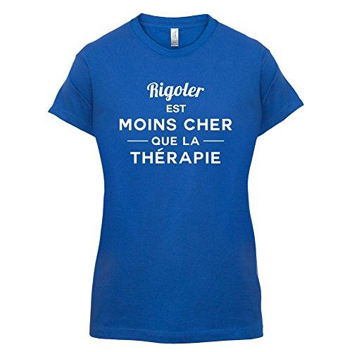 Rigoler est moins cher que la thérapie - Femme T-Shirt - 14 couleur Bleu Royal