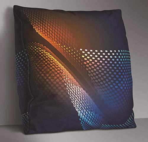 JWEK Kissenbezug 2-teiliges Set Sofakissenbezug Black Stripe Corrugated Array Doppelseitiges Kissen Kissenbezug Schlafzimmer Wohnzimmer Dekoration 45X45Cm / 18X18 Zoll -
