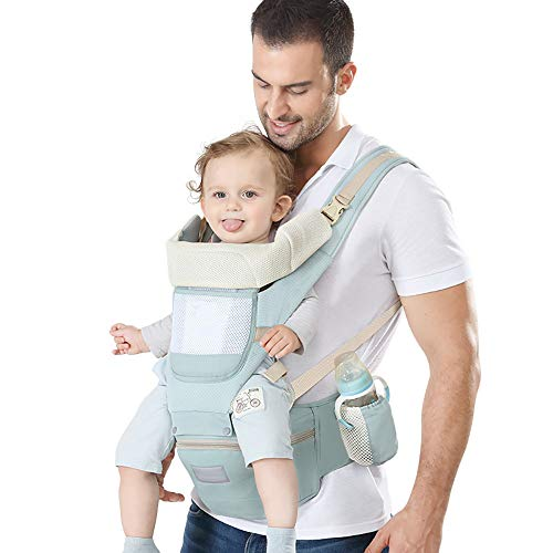 OLDF Baby Carrier,All Season Breathable Baby Sling Easy Breastfeeding, No Infant Insert Needed, One Size Fits All -Adapt to Newborn, Infant & Toddler, Great Hiking OLDF