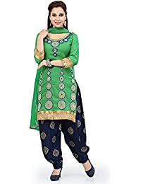 HARI OM CREATION Women's Cotton Unstitched Kurti With Palazzo Dress Material (Green_Free Size)