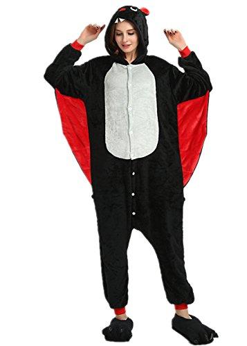 VineCrown Damen Schlafanzug Tier Pyjamas Overall Cosplay Strampelanzüge Nachthemden Kleid Karikatur Neuheit Jumpsuit Kostüme für Erwachsene Kinder Weihnachten Karneval (S for 150CM- 160CM, Eins)