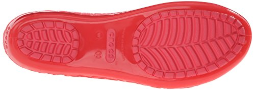 Crocs Isabella Jelly W, Ballerines - Femme Rouge (Coral)