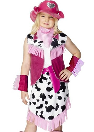 Childrens rosa Rodeo ragazza Cowgirl Costume Large (10-12 years)