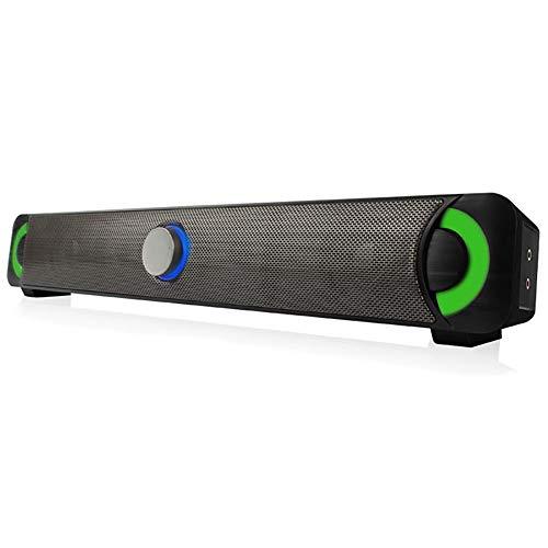 YHML Bluetooth 4.0 Computer Speaker-Home Multimedia Wireless Speaker HiFi Subwoofer Audio Mit LED Colorful Movies, Musik und Computerspiel Knob Support Card,Black