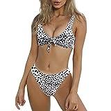 Damen Bademode Frauen Verband Push Up Bikini Mode Retro Hohe Taille Neckholder Bikini Zweiteiliger Badeanzug Swimming Moonuy