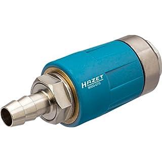 HAZET Sicherheitskupplung (passend für alle Luftanschlussnippel, sichere Trennung der Verbindung, mit 10 mm Schlauchnippel) 9000-070