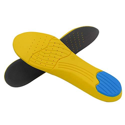 Makefortune® Memory Foam Orthesen-Einlegesohlen für Plantarfasziitis mit Fußgewölbestütze, Stoßdämpfung, Mittelfußpolster, Stoma-Design für Männer