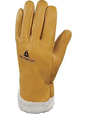 Delta Plus Guanti di pelle–Guanto per freddo fiore bovina in giallo taglia 8