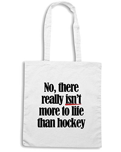 T-Shirtshock - Borsa Shopping OLDENG00189 more to life hockey Bianco