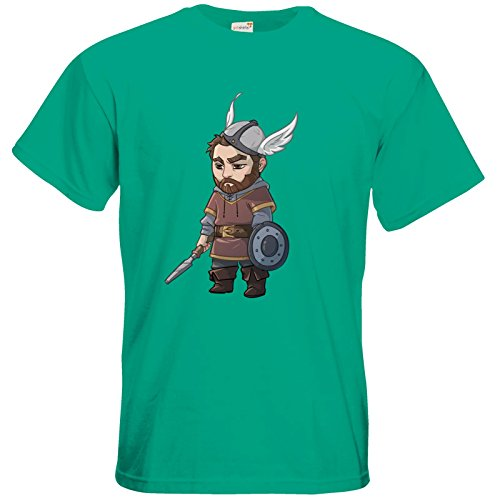 getshirts - Das Schwarze Auge - T-Shirt - Let's Plays - Nubor - Chibi Pacific Green