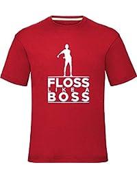 Floss Like A Boss T-Shirt Boys Girls Kids Adults Tee Top, Red, 9-11 Years