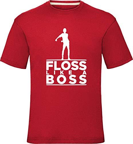 Floss Like A Boss Shirt Floss wie EIN Chef Tanz Jungen Herren T-Shirt Battle Schlacht Royale Kinder Kleinkinder Hemden 1-2 Jahre (Truhe 24