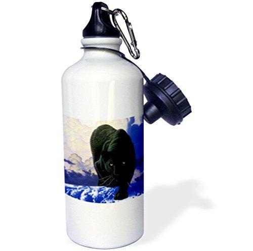 Moson Sport Wasser Flasche Geschenk, Black Panther, Edelstahl-Flasche für Frauen Herren Klauenhammer/Latthammer