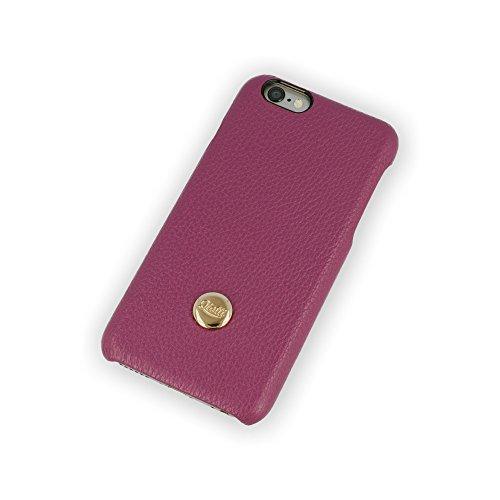 QIOTTI QX-C-0200-04-IP6 Q.Snap Luxury Premium Echtleder Schutzhülle für Apple iPhone 6/6S lila Apple Iphone Snap Lila