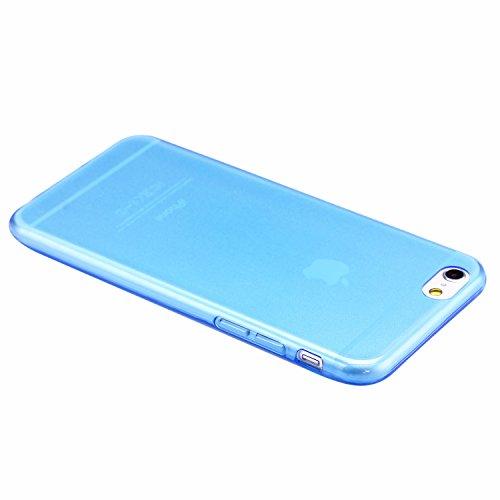 """Liamoo iPhone 6 / 6s Plus Hülle TPU (5,5"""") aus sehr dünnem Silikon Schutzhülle Cover Case Cover (grau durchsichtig) blau durchsichtig"""
